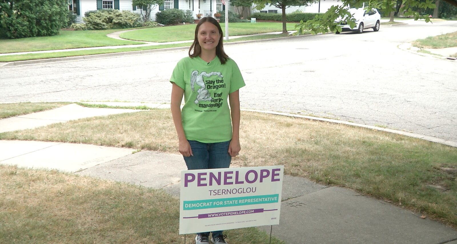 On the Campaign Trail: Penelope Tsernoglou 69th State Rep. Candidate (D)