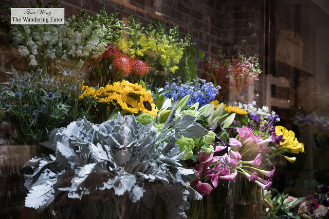Flowers in the refrigerated area