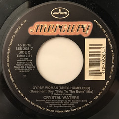 CRYSTAL WATERS:GYPSY WOMAN(SHE'S HOMLESS)(LABEL SIDE-B)