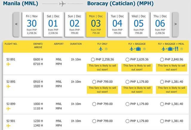 Cebu Pacific Promo Manila to Boracay