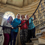 Girls on Seaton Delaval Hall stairs