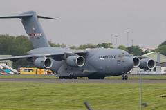 02-1100 C-17A USAF Prestwick 26.05.18