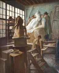 L'atelier de Rodin de C. Weisser (Musée Camille Claudel, Nogent-sur-Seine)