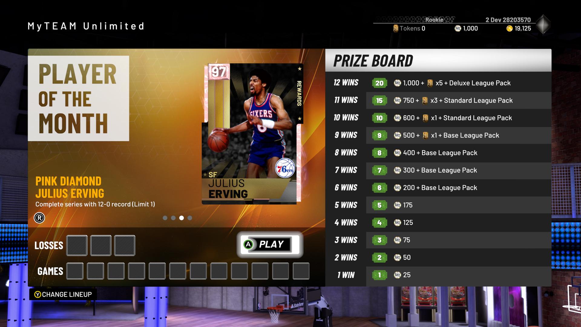 NBA 2K19 MyTeam Player of the Month Reward