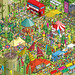Castle Arts Festival - Daily Mail Great Summer £125,000 Treasure Hunt - isometric pixel art illustration by Rod Hunt
