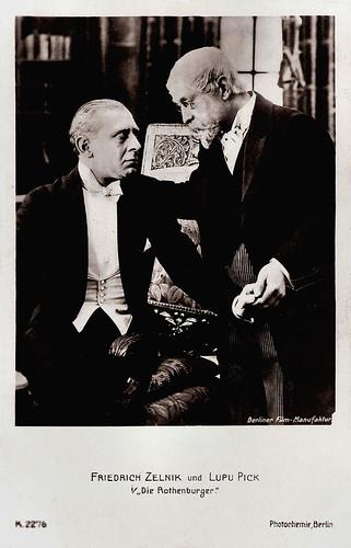 Friedrich Zelnik and Lupu Pick in Die Rothenburger (1918)
