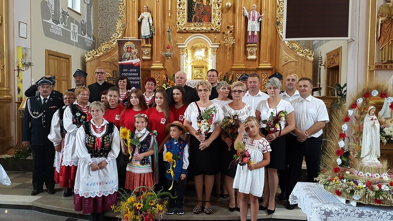 Dożynki Parafialne w Strażowie Uroczystość Wniebowzięcia NMP