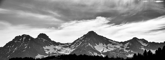 Mountains in B&W