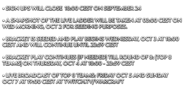 AWC 2018 Fall - EU Cup #3 by World of Warcraft Arena World