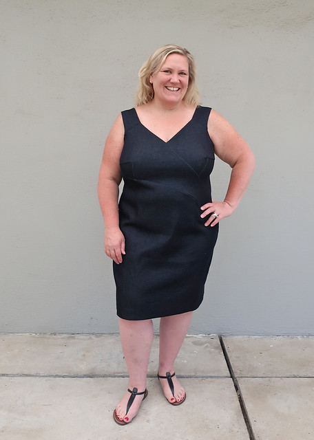 H black denim dress front view2