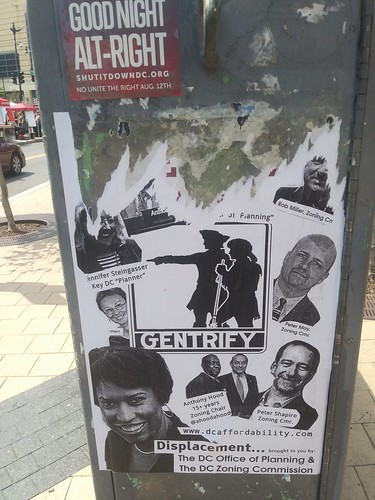 Anti-gentrification advocacy poster D.C.