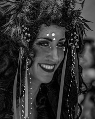 Coney Island Mermaid Parade . Fourth of a series of portraits from the Parade last Saturday. After this you will know why I don't do portraits! :-) . . #coneyislandmermaidparade #coneyisland #mermaidparade2018 #mermaidparade #mermaids #boardwalkbeauties #