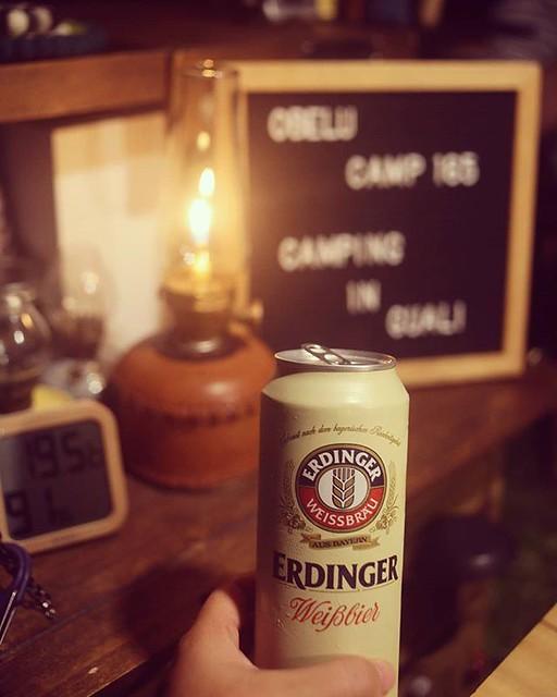 20180803 海拔1600 大自然的冷氣房 目前氣溫19度 超級舒服 伴著貓頭鷹的叫聲 我最愛的艾丁格 啊~~~~ 人生啊~ #歐北露 #ilovecamping #campinglife #Erdinger
