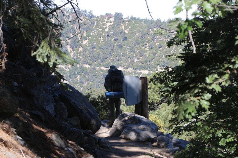 The Wilderness Boundary Sign at 7000 feet elevation on the San Bernardino Peak Trail