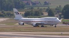 Dubai Air Wing Boeing 747-400 A6-MMM Zurich Airport webcam capture
