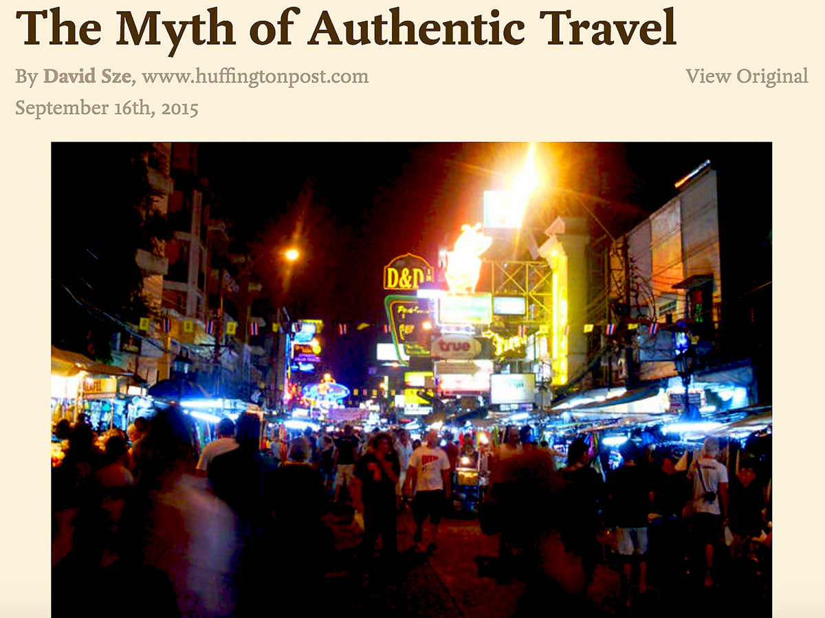 Authentic Travel : Is it our own fantasy ?