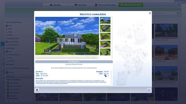 Galeria do The Sims 4 Recebe Melhorias em Nova Atualização