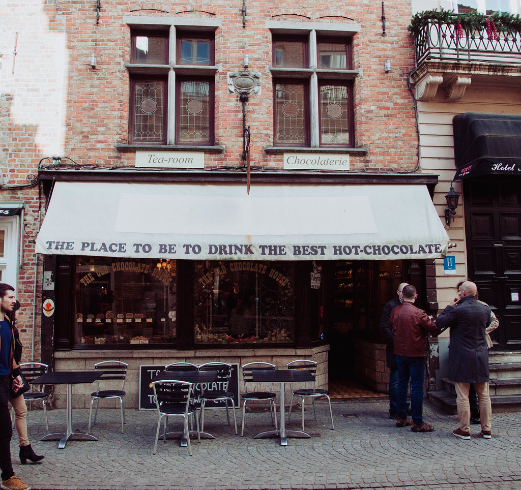 Old Chocolate House Bruges Belgium