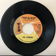 THE SPINNERS:IT'S A SHAME(RECORD SIDE-B)