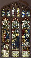 Dorcas clothes the poor, death of Dorcas, St Peter brings Dorcas back to life (Powell & Sons, c1880)