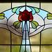 Oscar Paterson Art Nouveau stained glass window