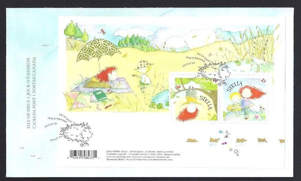 Canada - Scott #2651 (2013) first day cover for souvenir sheet