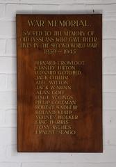 Diss Grammar School WWII memorial