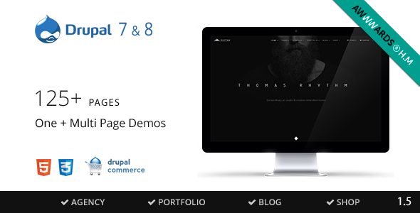 Rhythm v1.7.3 - Drupal 7 & 8 Multipurpose Commerce theme