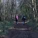 021-20180221_Gordano District-Somerset-heading Ewards through woods along summit ridge of Court Hill-L-R Jill Richardson, Julia Kaye