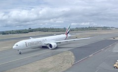 Emirates Boeing 777-300ER A6-EQN delivery flight Paine Everett Airport