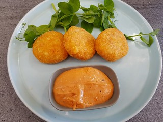 Potato Fritters at The Cardamom Pod Brickworks