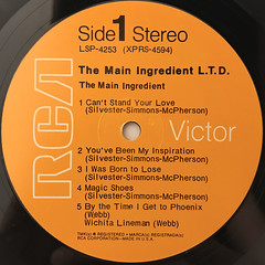 THE MAIN INGREDIENT:L.T.D.(LABEL SIDE-A)