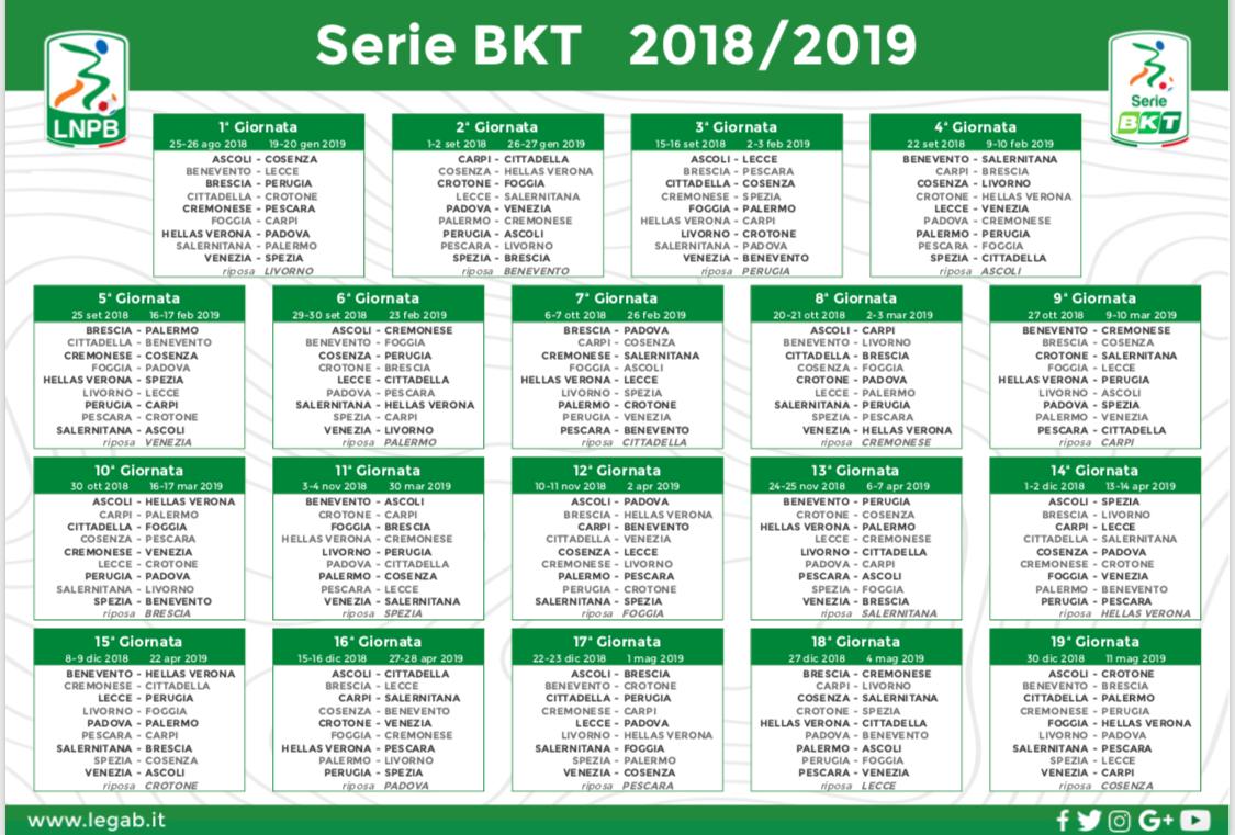 Serie A Calendario Completo.Il Calendario Completo Della Serie Bkt 2018 19 Hellas Live