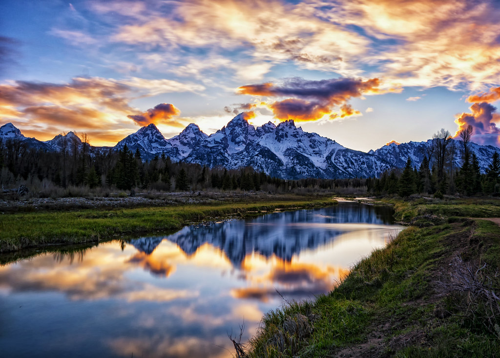 Sunset in the Tetons
