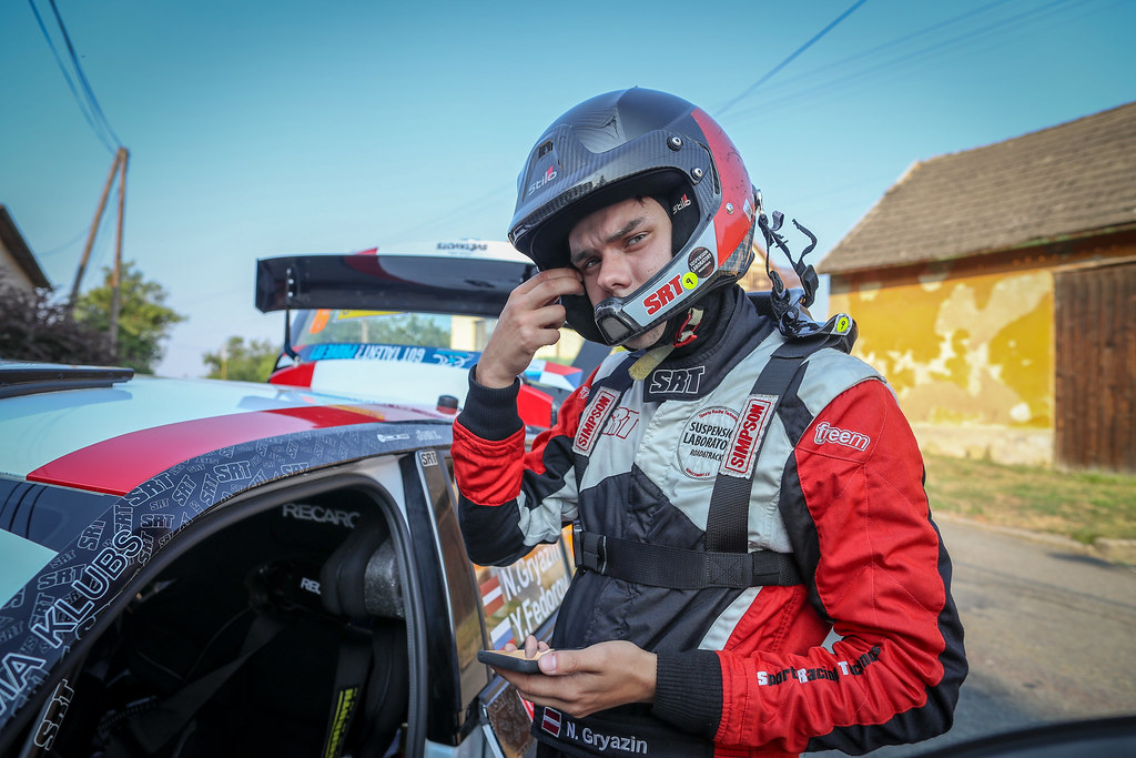 Gryazin Nikolay, LVA, Sports Racing Technologies, Skoda Fabia R5, Portrait during the 2018 European Rally Championship ERC Barum rally,  from August 24 to 26, at Zlin, Czech Republic - Photo Alexandre Guillaumot / DPPI