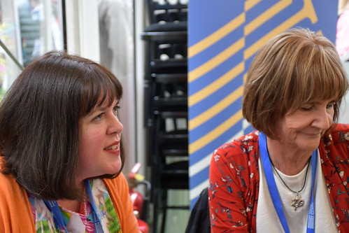 Holly Webb and Theresa Breslin