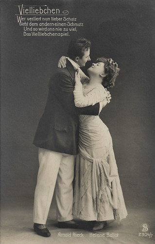 Arnold Rieck and Helene Ballot perform Vielliebchen (1909)