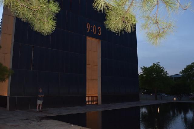 Oklahoma City National Memorial at Night