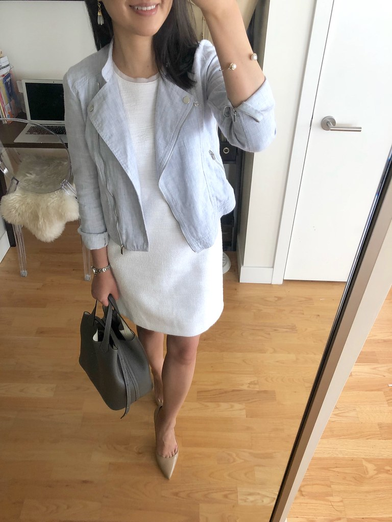 06d5adfd73a6cc How To Style A Linen Moto Jacket + Fitting Room Reviews - what jess wore