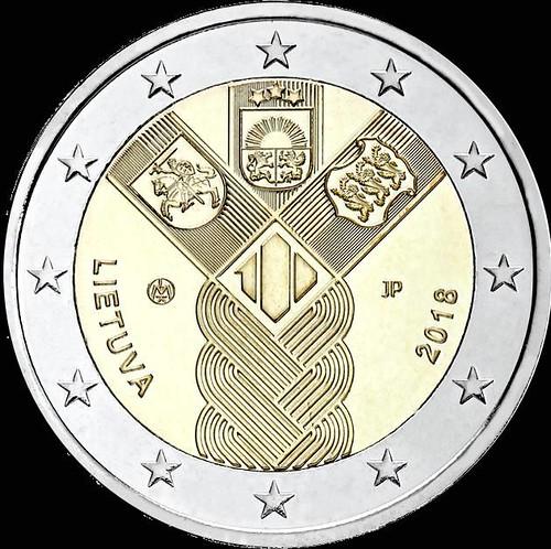 2 Euro Litva 2018, Storočnica pobaltských štátov