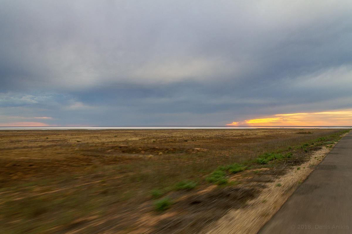 Закат на Эльтоне фото 1