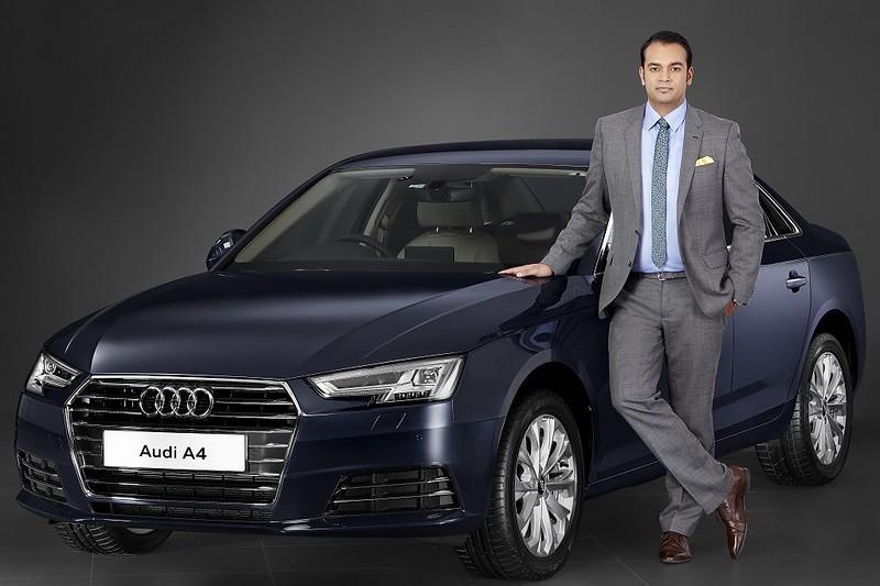 Mr.-Rahil-Ansari-Head-Audi-India-with-the-all-New-Audi-A4-35-TDI