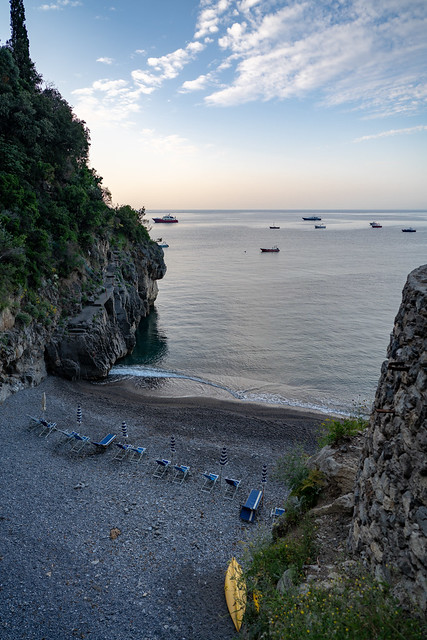 Private Beach at La Fenice Amalfi Coast
