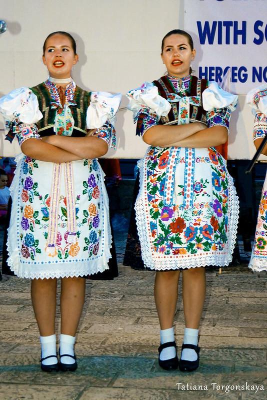 Выступление фольклорной группы из Словакии
