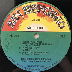 COLD BLOOD:COLD BLOOD(LABEL SIDE-A)