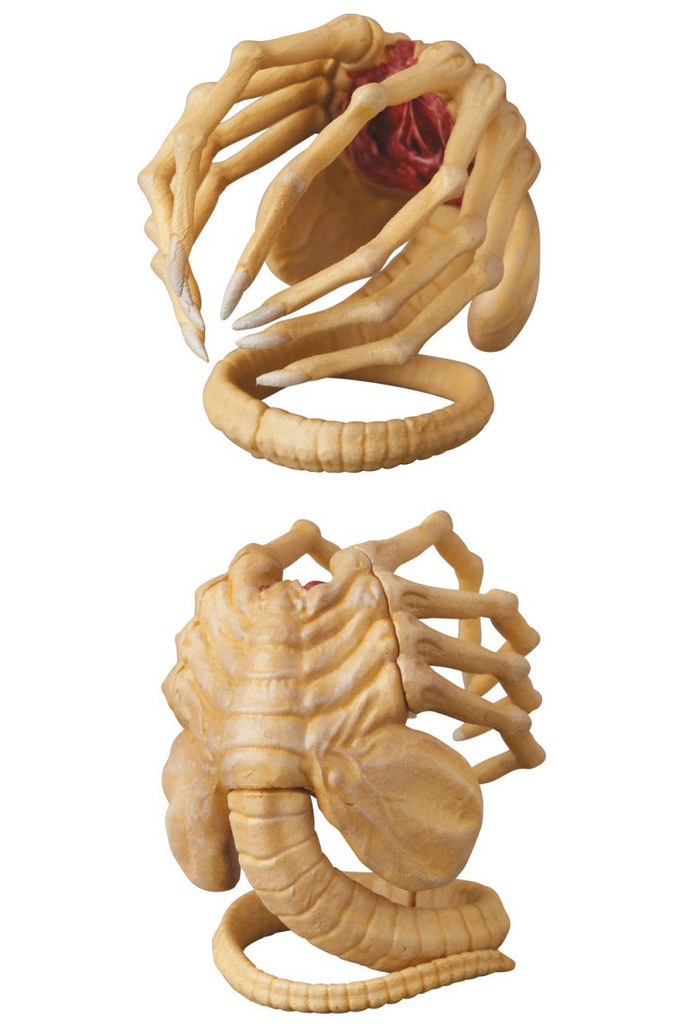 經典的「Big Chap」造型!抱臉體、破胸體還一起送給你啊~~ MAFEX《異形》異形 ALIEN