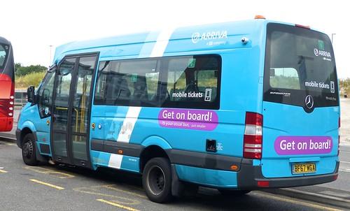BF67 WGA 'ARRIVA Midlands' No. 1007 'Get on Board'. Mercedes-Benz City Sprinter 45 /2 on Dennis Basford's railsroadsrunways.blogspot.co.uk'