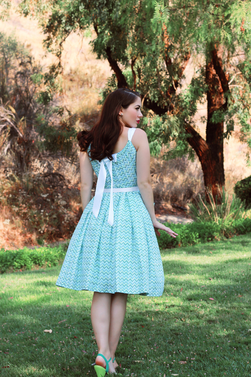 Miss Fortune Summer Belle Dress in Chevrons