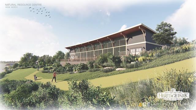 Artist rendering of new interpretive centre in Calgary