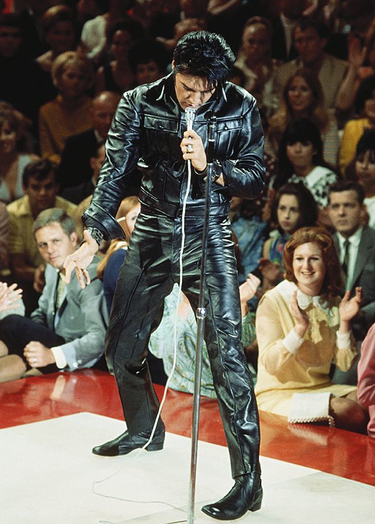 Presley performing in the special